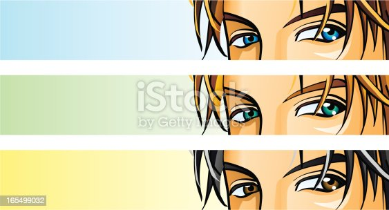 istock Male eyes in 3 color sets 165499032