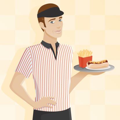 Male Fast Food Worker
