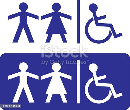 Vector illustration of disability sign.