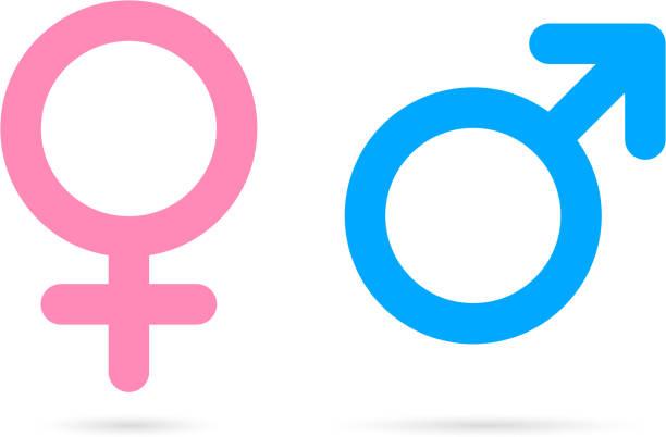 stockillustraties, clipart, cartoons en iconen met mannelijke vrouwelijke iconen - vrouwelijk