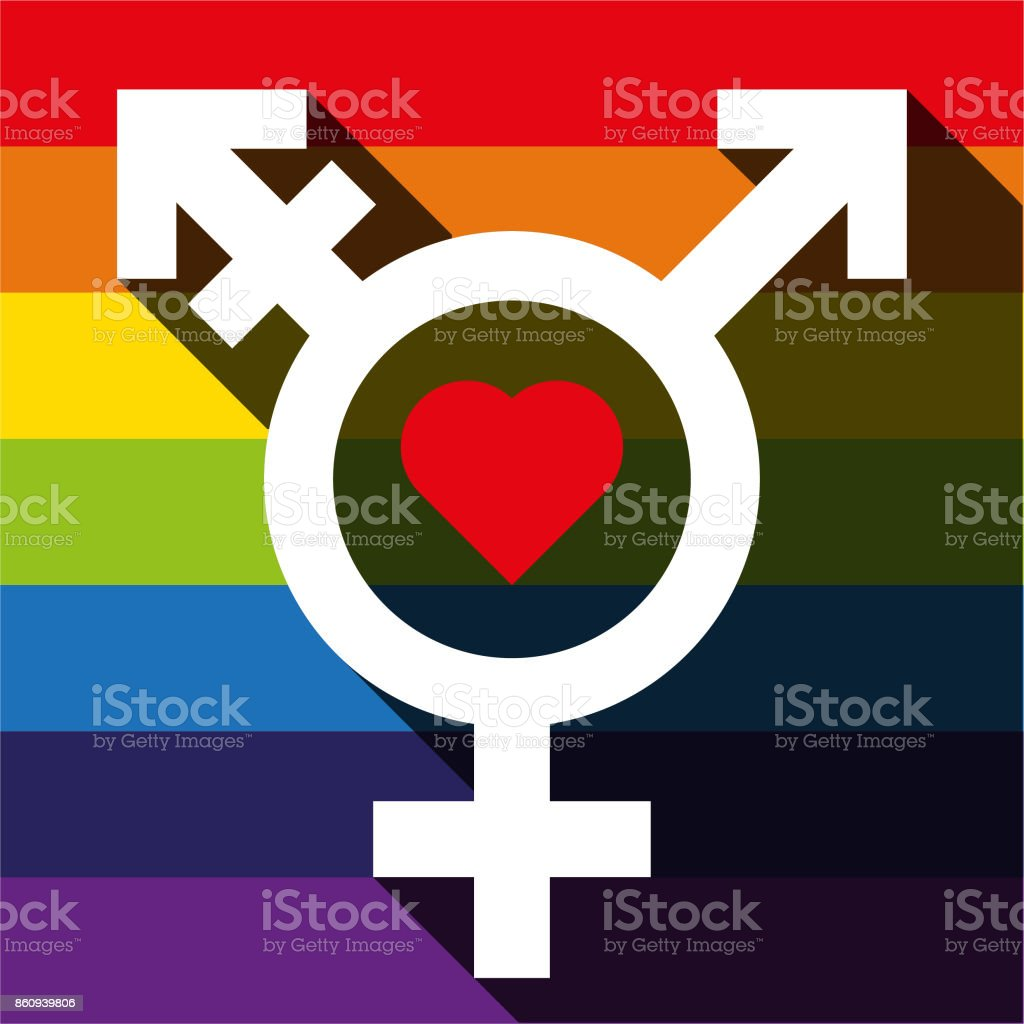 Male female trans symbol stock vector art more images of colors heart shape uk colors females gay pride symbol buycottarizona