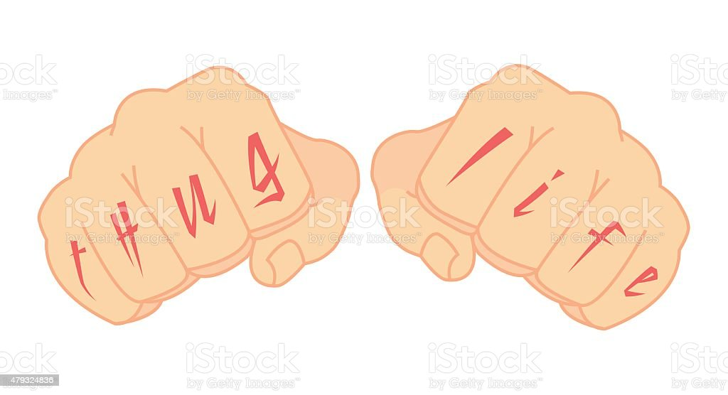 3be82aa91 Male fists with tattoo royalty-free male fists with tattoo stock vector art  &