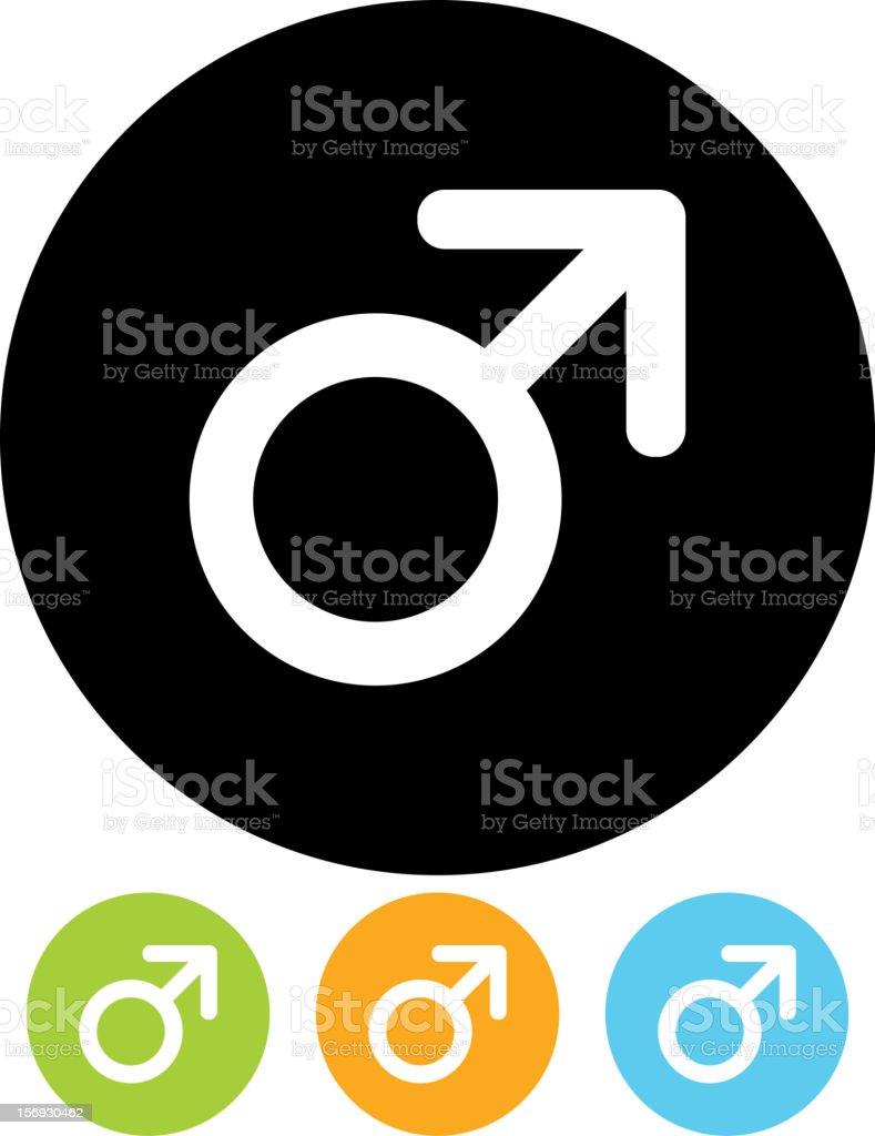 Male gender symbol vector icon royalty-free stock vector art