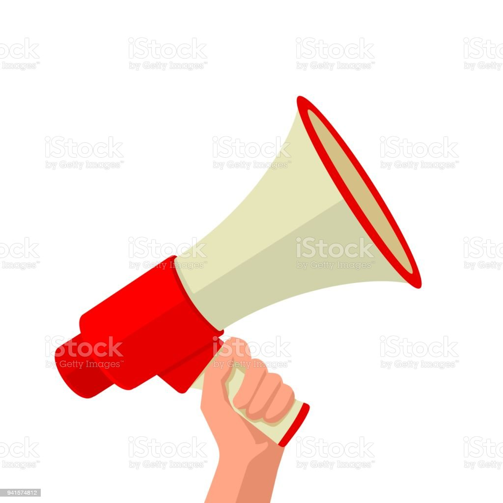 male hand holding loudspeaker stock illustration download image now istock male hand holding loudspeaker stock illustration download image now istock