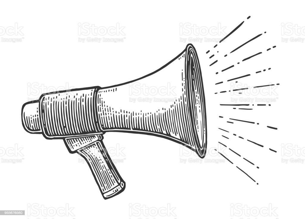 male hand holding loudspeaker stock illustration download image now istock male hand holding loudspeaker stock illustration download image now istock