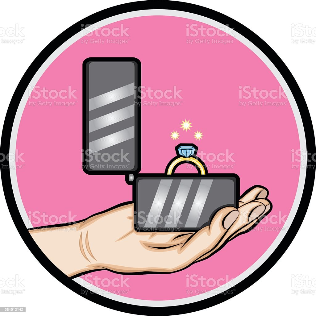 Male Hand With Wedding Ring Stock Vector Art & More Images of Adult ...