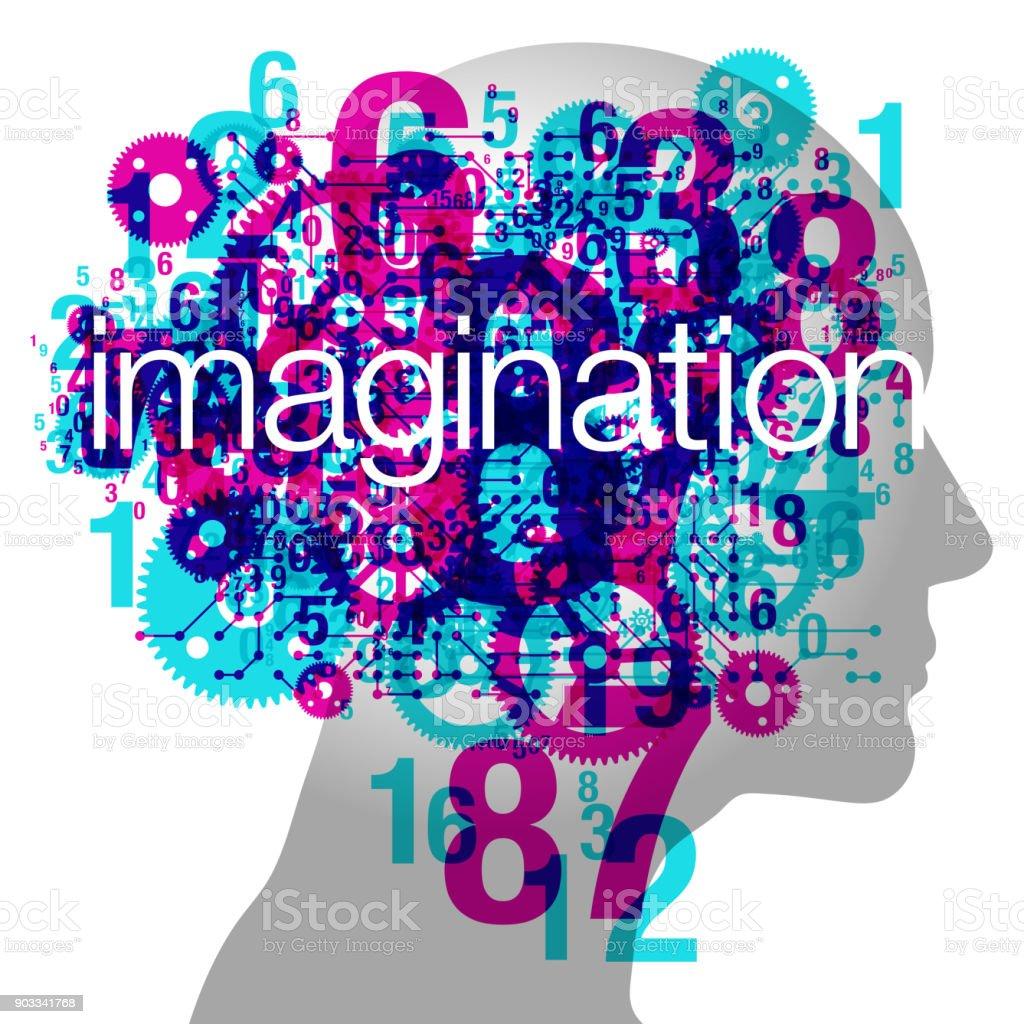 Male Imagination vector art illustration