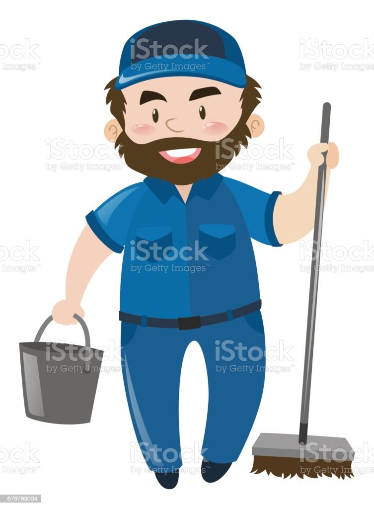 royalty free asian janitor clip art vector images illustrations rh istockphoto com janitorial clipart janitorial clip art images