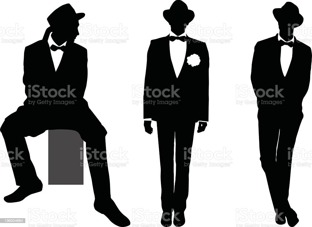 male model royalty-free stock vector art