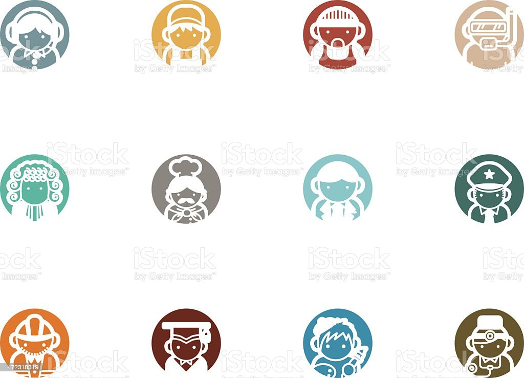male occupation people icons royalty-free stock vector art