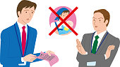 A male office worker applying for paternity leave . The boss who refuses.