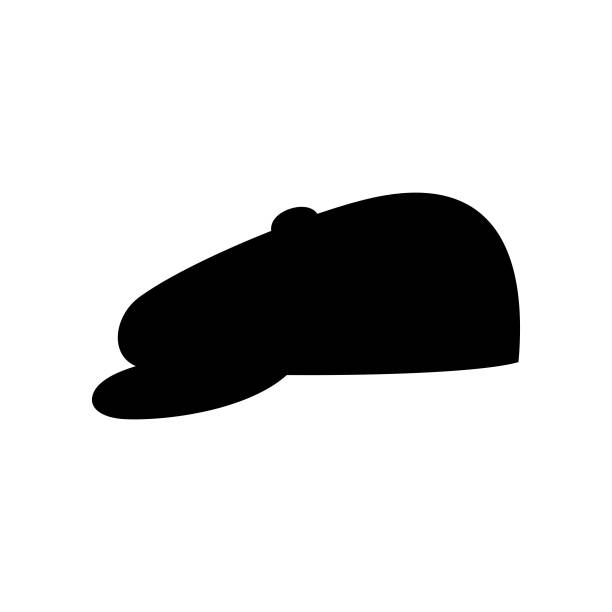 Male peaked cap (hat) with visor Available in high-resolution and several sizes to fit the needs of your project. uniform cap stock illustrations