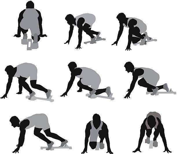 雄ランナー - 陸上競技点のイラスト素材/クリップアート素材/マンガ素材/アイコン素材