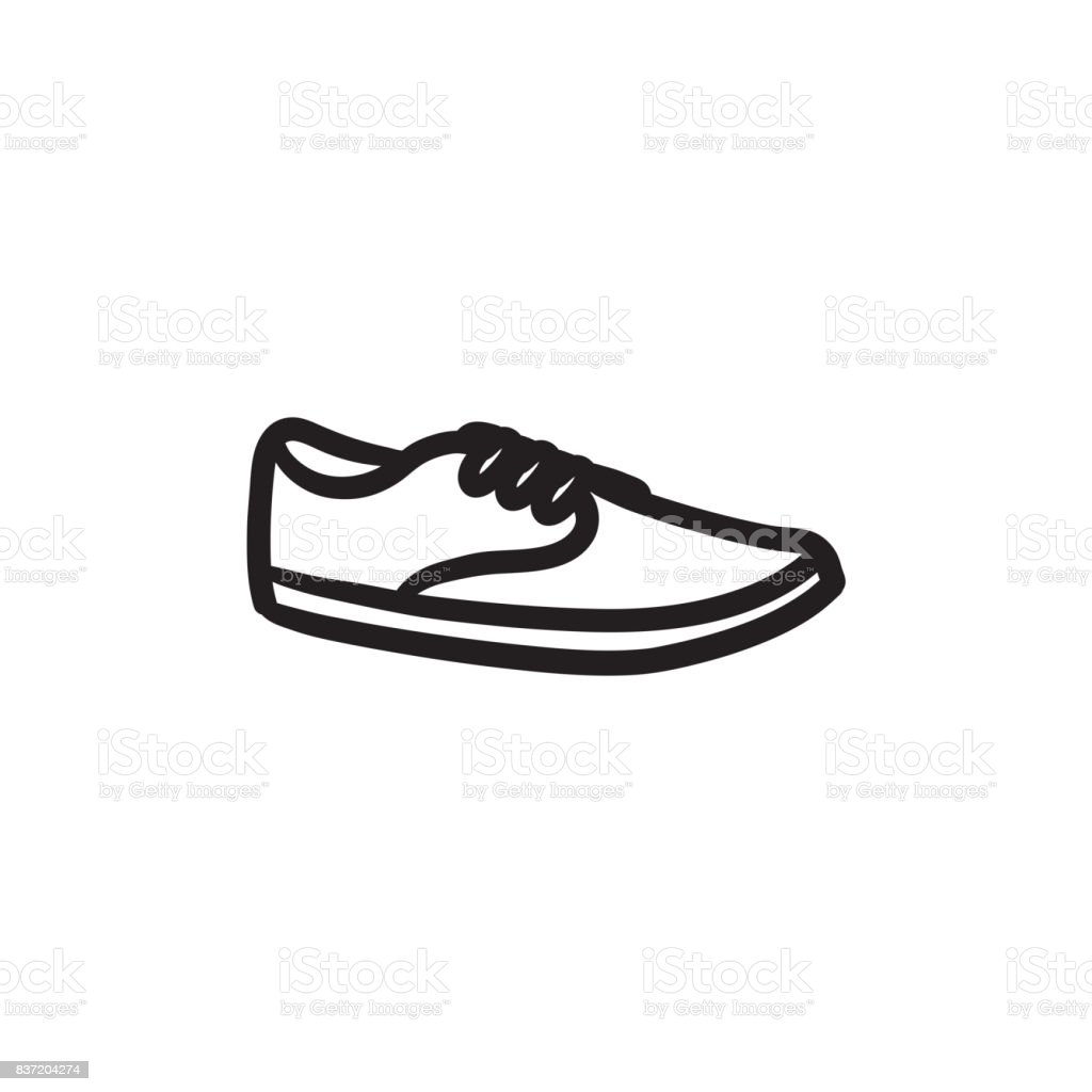 Male shoe sketch icon vector art illustration