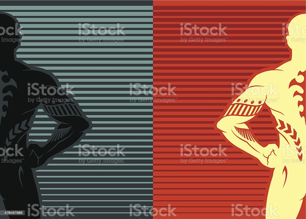 Male silhouette royalty-free stock vector art