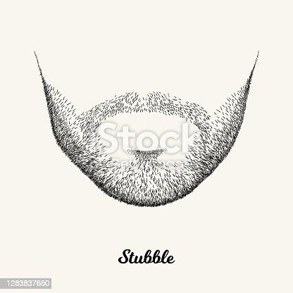 istock Male stubble 1283837650