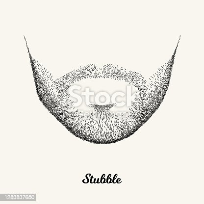 Simple linear Illustration with fashionable men hairstyle. Contour vector background with isolated element for barber shop decor, prints, t-shirts, posters