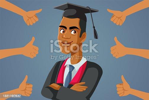 istock Male Student Receiving Appreciation at Graduation Ceremony 1331192832