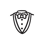 Male suit sketch icon