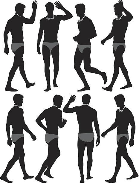 ilustrações de stock, clip art, desenhos animados e ícones de homem natação - tronco nu