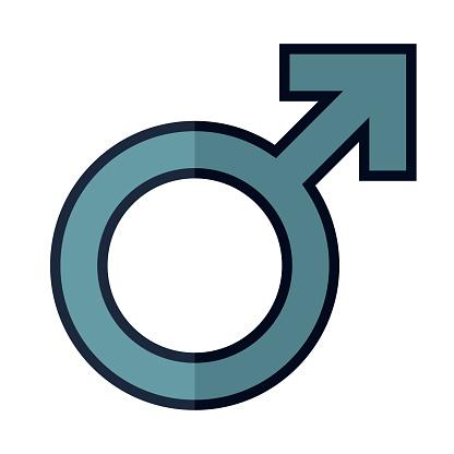 Male Symbol Icon on Transparent Background