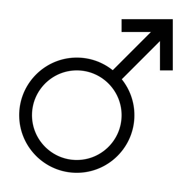 ilustrações de stock, clip art, desenhos animados e ícones de male thin line vector icon - sexo masculino