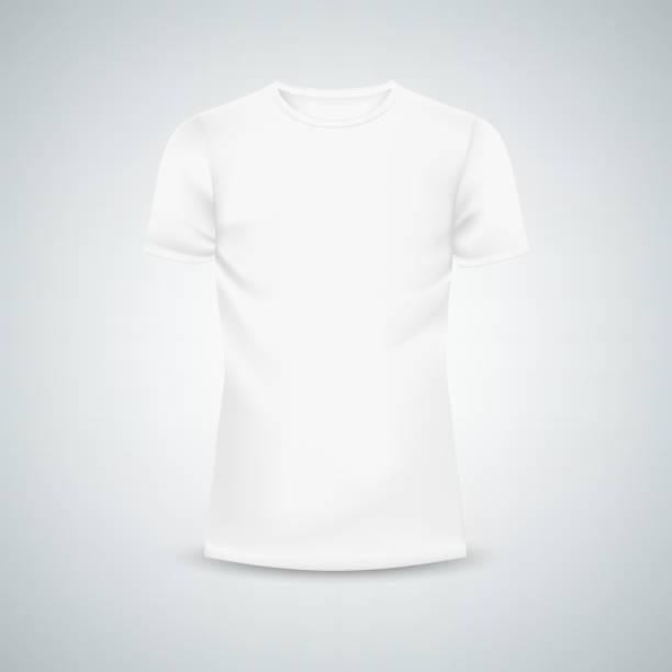 Männer T-shirt Vorlage mockup – Vektorgrafik