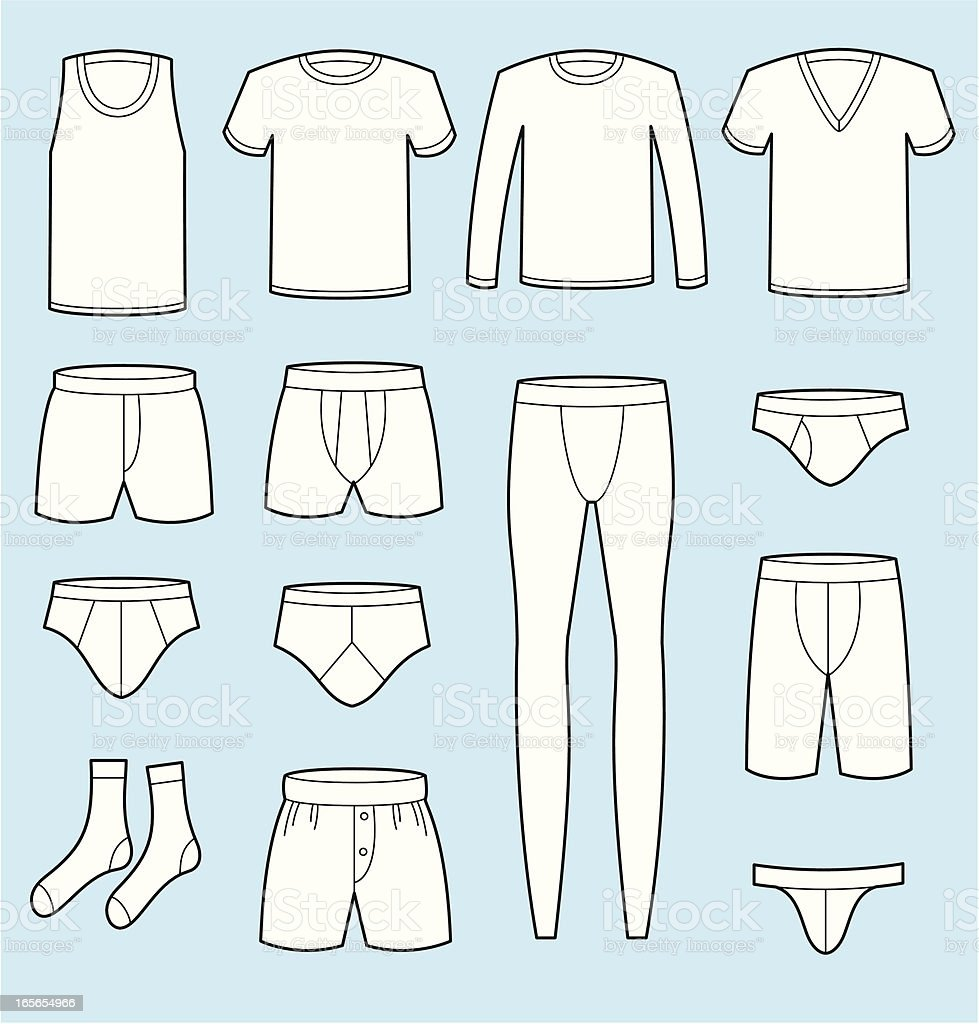 Male Underwear vector art illustration