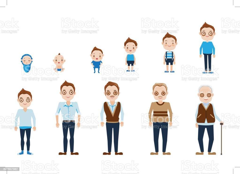male vector art illustration