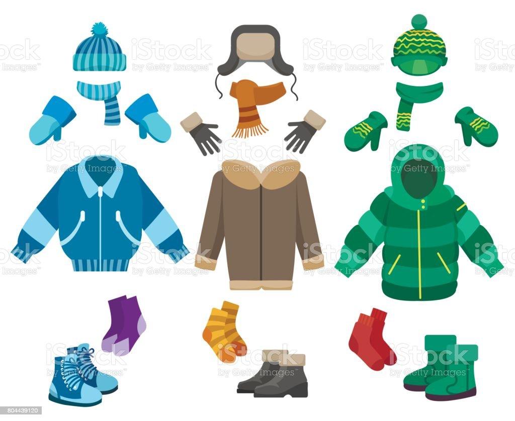 Winter Clothes Clip Art