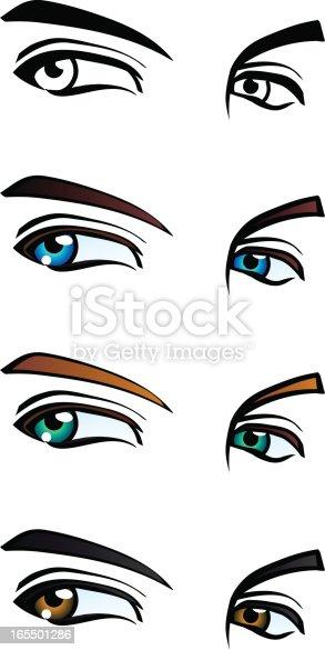 istock Males eyes in 4 styles 165501286