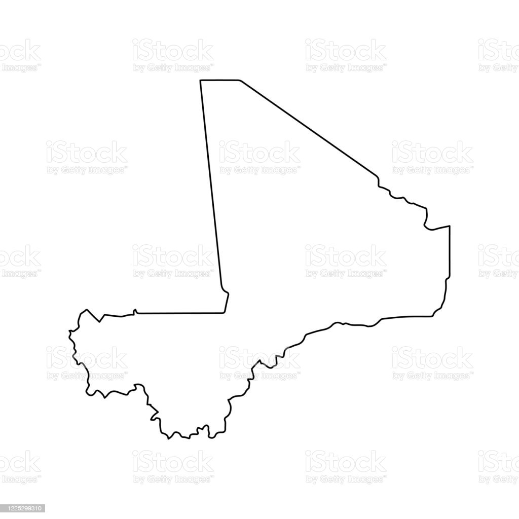 Mali Map Line Outline Country Africa Map Illustration Vector African Isolated On White Background Stock Illustration Download Image Now Istock
