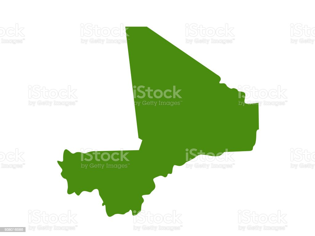 Mali Map Stock Vector Art & More Images of Africa 938016586 | iStock