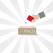 Malta Elections Vote Box Vector Work