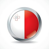 Malta flag button