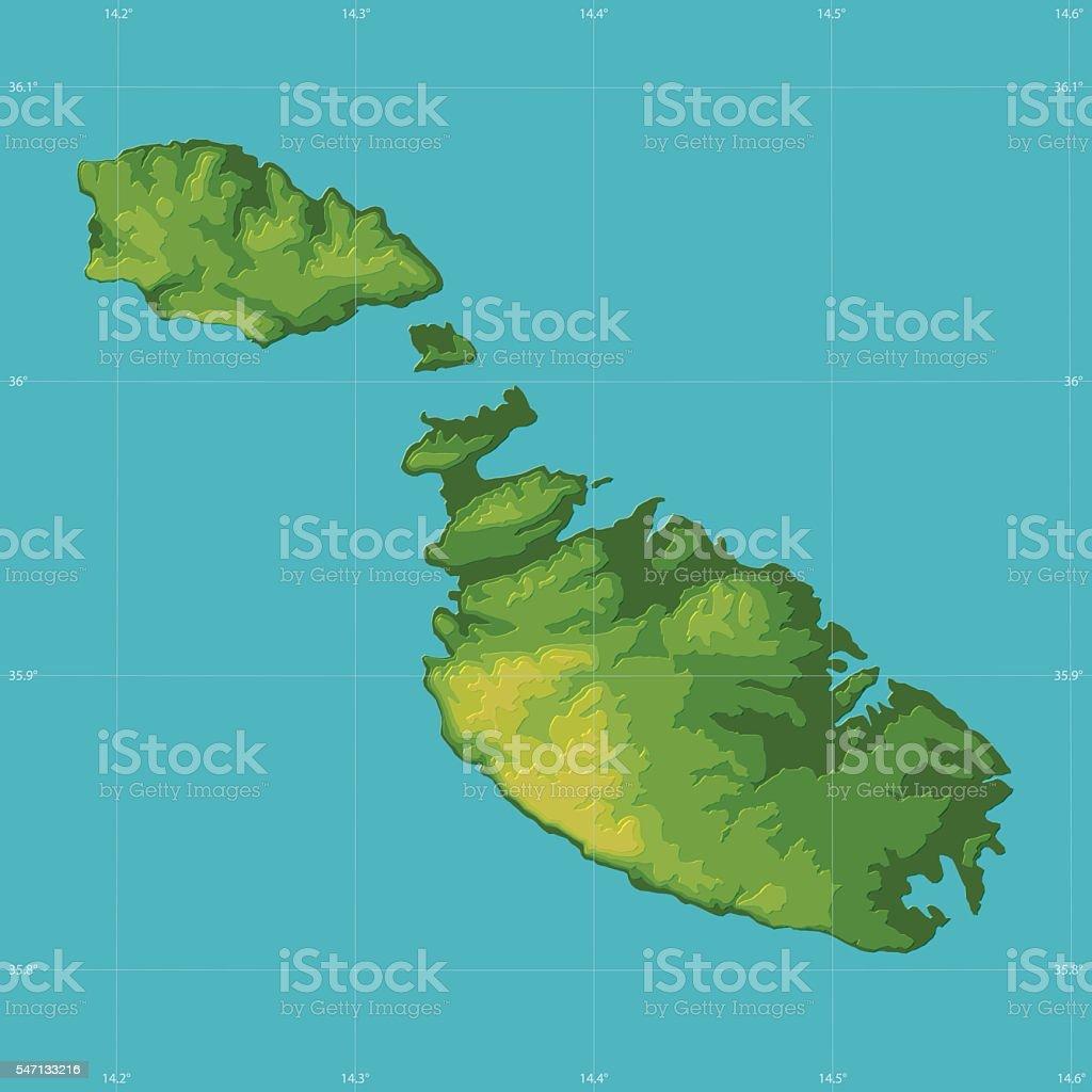 Ilustracin de malta topographic relief vector map y ms banco de malta topographic relief vector map ilustracin de malta topographic relief vector map y ms banco de gumiabroncs Images