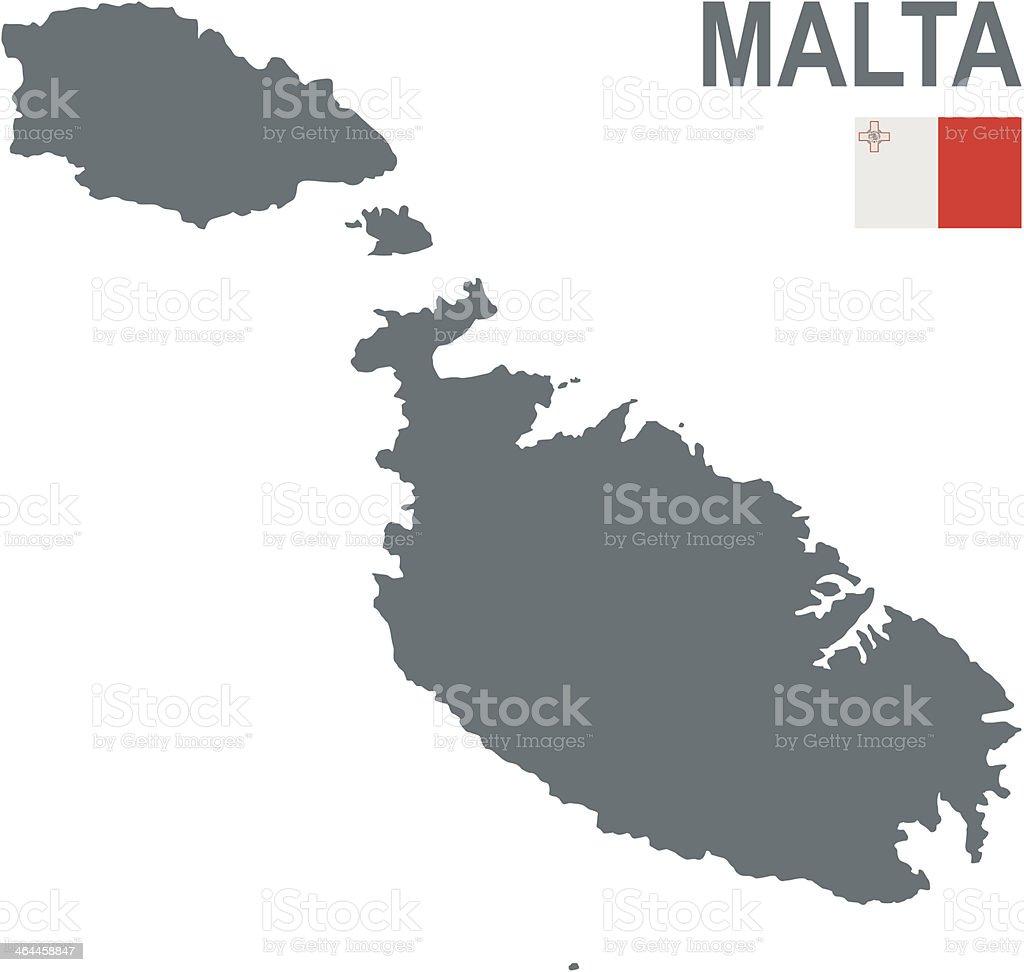 Malta vector art illustration