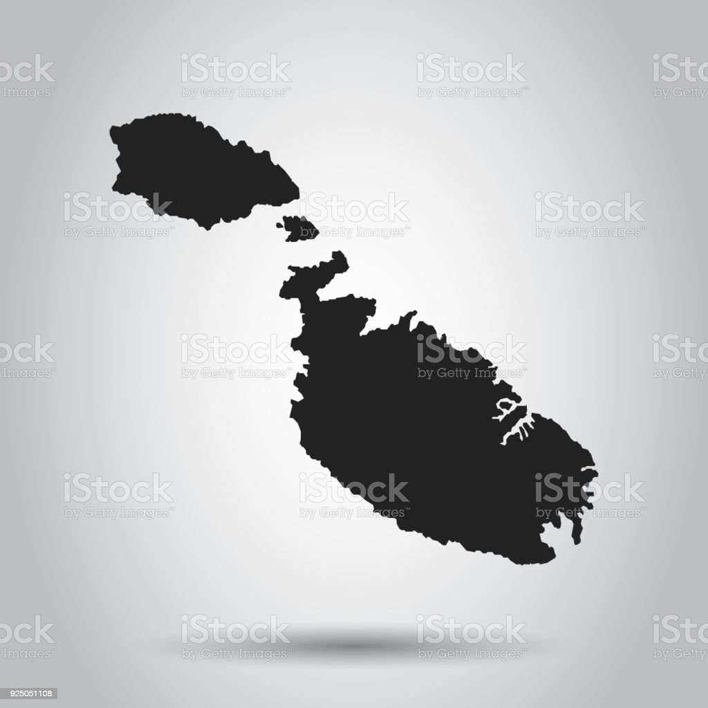 Malta vector map black icon on white background stock vector art malta vector map black icon on white background royalty free malta vector map gumiabroncs Images