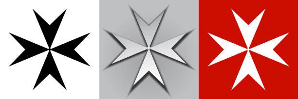 illustrazioni stock, clip art, cartoni animati e icone di tendenza di maltese cross - amalfi
