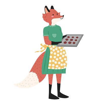 Mama fox isolated