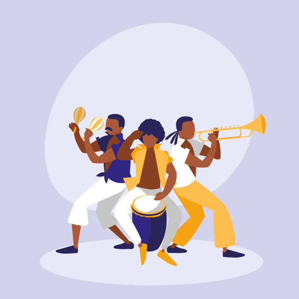 bildbanksillustrationer, clip art samt tecknat material och ikoner med mambo band avatar karaktär - latino music
