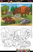 mammals animals cartoon coloring book