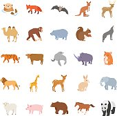 Mammals vector icons