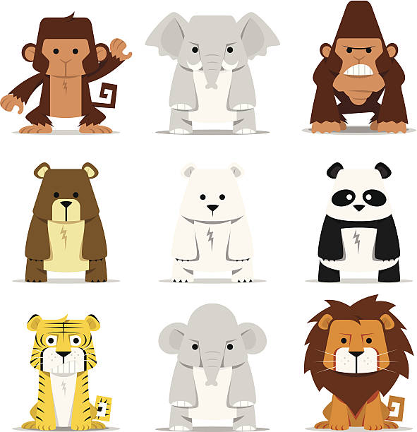 Mammals vector art illustration