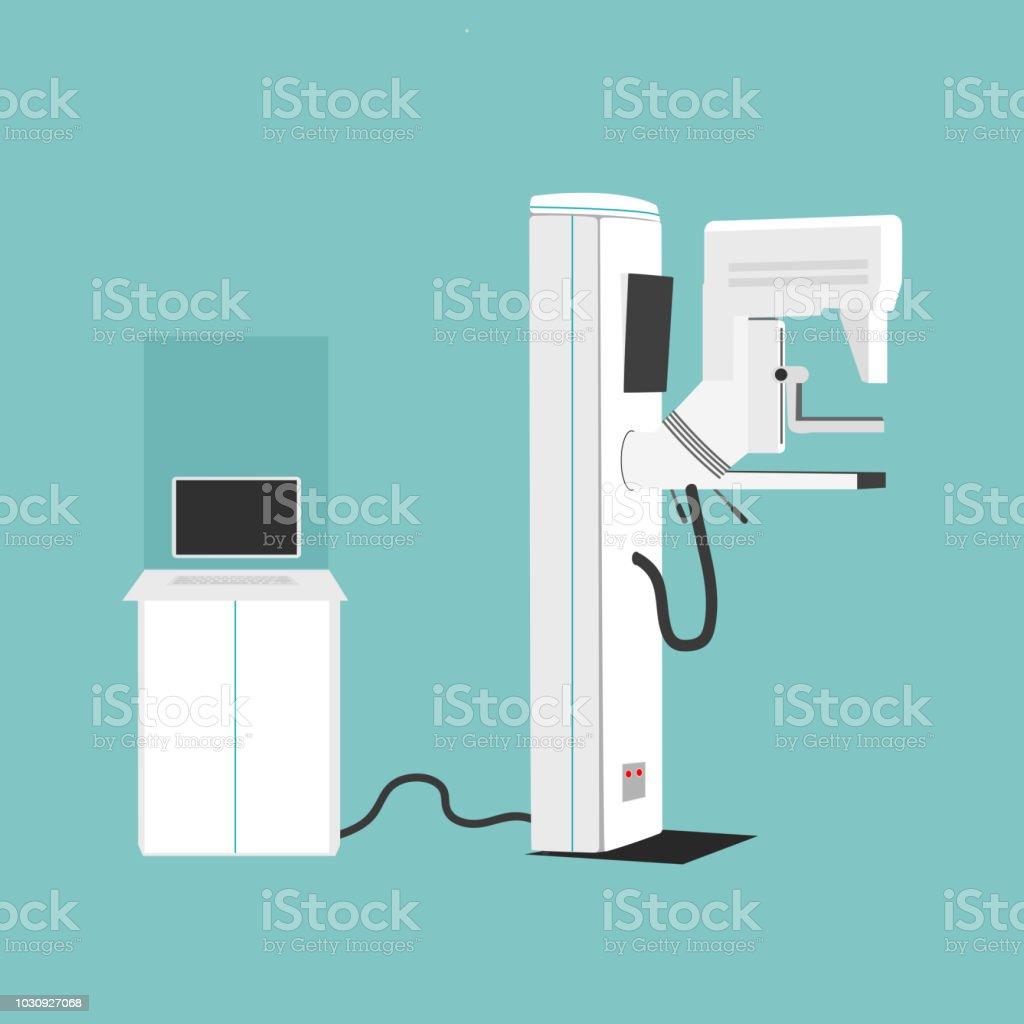 Mammography Machine Vector Illustration. Woman s Diagnostics and Health concept. vector art illustration