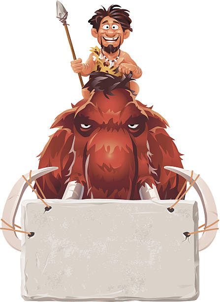 mammoth fahrer - eiszeit stock-grafiken, -clipart, -cartoons und -symbole