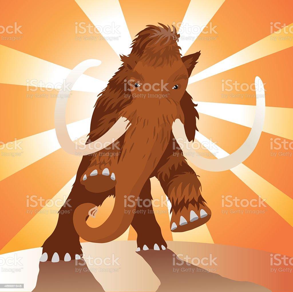 Mammoth vector art illustration