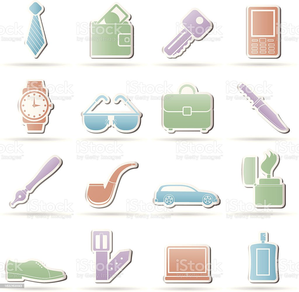 man Accessories icons and objects royalty-free man accessories icons and objects stock vector art & more images of adult