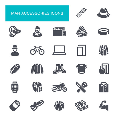 Man Accessories Icons