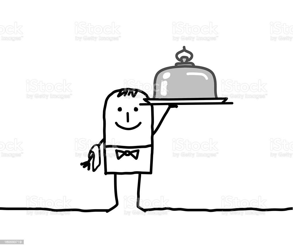 man & service vector art illustration